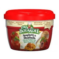 Chef Boyardee 6414404717 Spaghetti w/Meatballs Microwave Meal 12/7.5oz Case