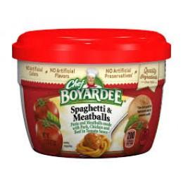 Chef Boyardee 6414404717 Spaghetti w/Meatballs Microwave Meal 12/7.5oz Case