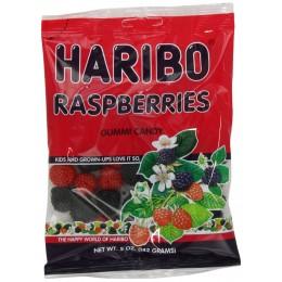 Haribo Gummies Raspberries, 5 oz Each, 12 Total