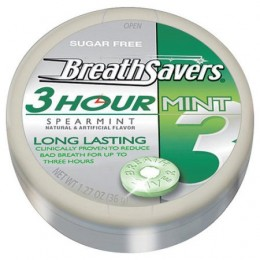 Breathsavers Mints Spearmint Tin 1.27 oz. Each, 192 Total