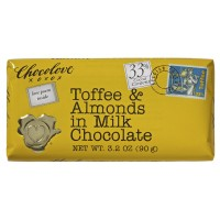 Chocolove Toffee and Almonds in Milk Chocolate, 3.2 oz Each, 144 Total