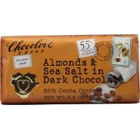 Chocolove Almonds and Sea Salt in Dark Chocolate, 3.2 oz Each, 144 Total