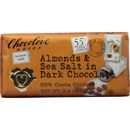 Chocolove Almonds and Sea Salt in Dark Chocolate, 3.2 oz Each, 144 Total