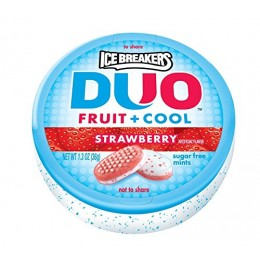 Ice Breakers Duo Strawberry, 1.3 oz ea. 192 Total