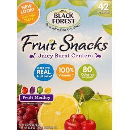 Black Forest Fruit Snacks - Fruit Medley, 2.25 oz Each, 48 Bags Total