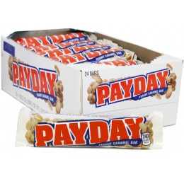 Payday Bar, 1.85 oz Each, 12 Boxes of 24 Bars, 288 Total