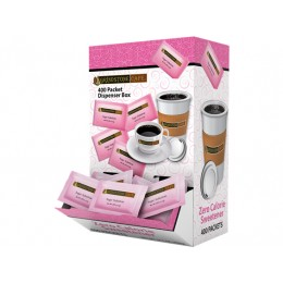 Grindstone Pink Sweetener Dispenser Box, 0.035 Each Packet, 4 Boxes of 400 Packets, 1600 Packets Total