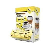 Grindstone Yellow Sweetener Dispenser Box, 4 Boxes of 400 Packets, 1600 Packets Total