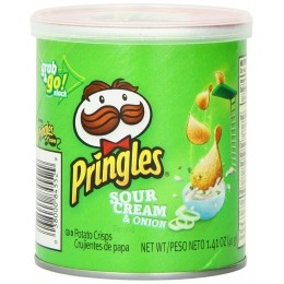 Pringles Sour Cream and Onion Can, 1.41 oz ea. 36 Total