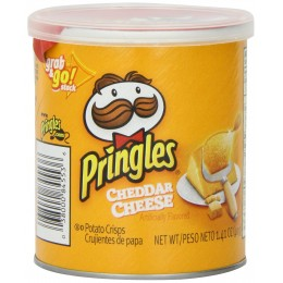 Pringles Cheddar Cheese Can, 1.41 oz Each, 36 Total