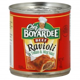 Chef Boyardee Beef Ravioli Easy Open Can, 7 oz Each, 24 Total
