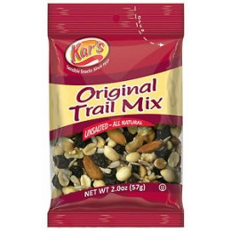 Kar's Nuts Original Unsalted Trail Mix, 2 oz Each, 48 Bags Total