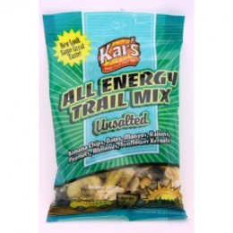 Kar's Nuts All Energy Unsalted Trail Mix, 2 oz Each, 48 Bags Total