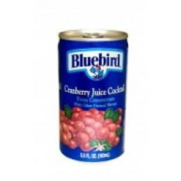 Bluebird 100% Cranberry Cocktail, 5.5 oz Each, 48 Cans Total