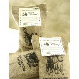 Wabash 41405 Amish Popcorn Burlap Bag Tender & White 2 lb