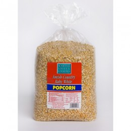 Amish Popcorn Baby White Hulless - 6 lb bag
