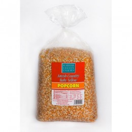 Amish Popcorn Baby Yellow Hulless - 6 lb bag