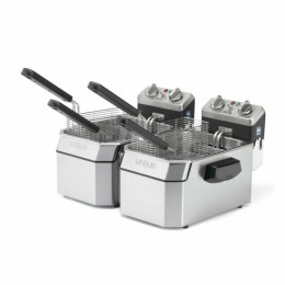 Waring Commercial WDF1000D Double 10-lb Deep Fryer 120V