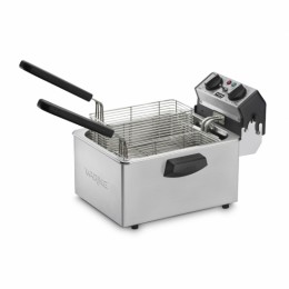 Waring Commercial WDF75B Professional Deep Fryer Dual Frying Baskets 8.5-lb 208V