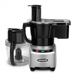 Waring Commercial WFP16SCD Combination 4-Qt. Batch Bowl with LiquiLock Seal System and Continuous-Feed Food Processor