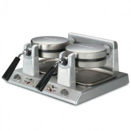 Waring Commercial WW250 Double Belgian Waffle Maker 120V 2400 Watts 20 Amps