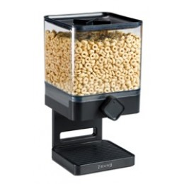 Zevro Compact Cereal Dispenser 17.5 oz Canister - Black