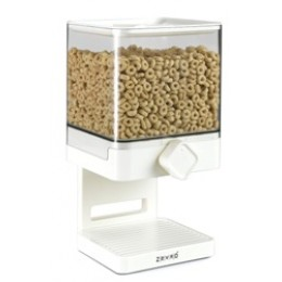Zevro Compact Cereal Dispenser 17.5 oz Canister - White